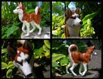 Running Red Husky Sculpture