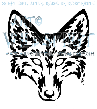 Jackal Head Tattoo Water Fox Head Tattoo by