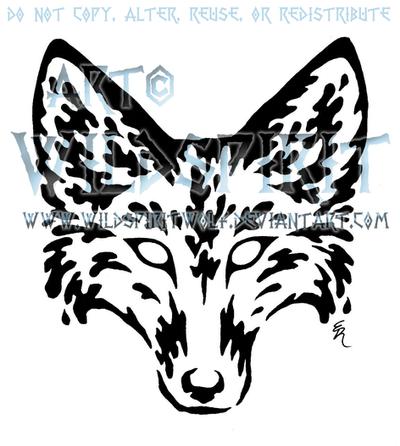 Jackal Head Tattoo Water Fox Head Tattoo by