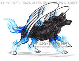Black And Blue - Sapphire Wolf
