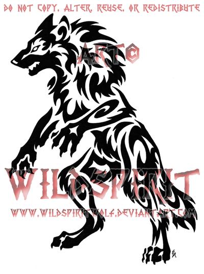 tribal werewolf tattoo by wildspiritwolf on deviantart