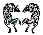 Love And Hate Tribal Wolves