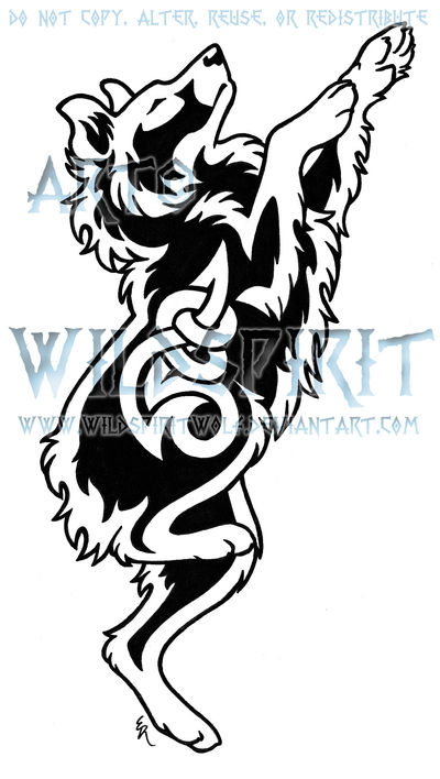 Australian Shepherd Melody Knot Tattoo