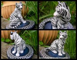 Celtic Wedding Topper White Tiger by WildSpiritWolf
