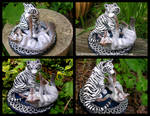 Celtic Tiger And Wolf Wedding Topper by WildSpiritWolf