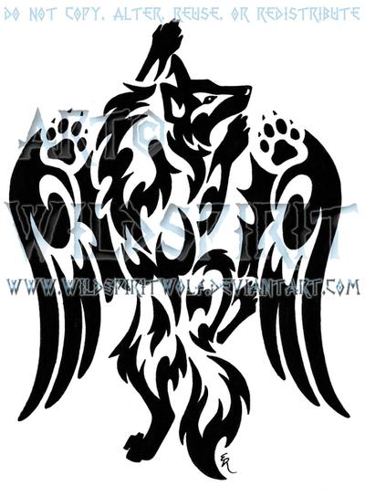 Winged Climbing Wolf Tattoo by WildSpiritWolf