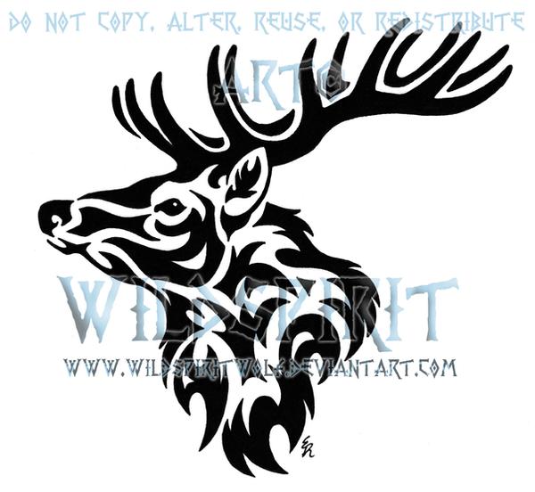 Meaning of celtic love knot tattoos tattoo artist ideas - Tribal Stag Head Tattoo By Wildspiritwolf On Deviantart