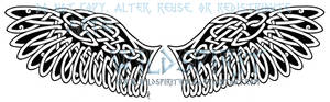 Celtic Barn Owl Wings Tattoo