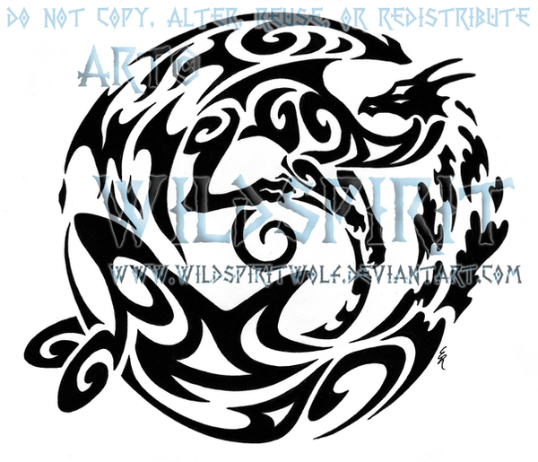 fire dragon and water orca tattoo by wildspiritwolf on deviantart. Black Bedroom Furniture Sets. Home Design Ideas