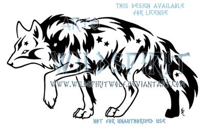Star Treader Tribal Wolf Design