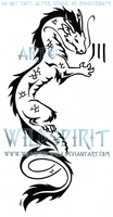Asian Dragon And Kanji Tattoo by WildSpiritWolf