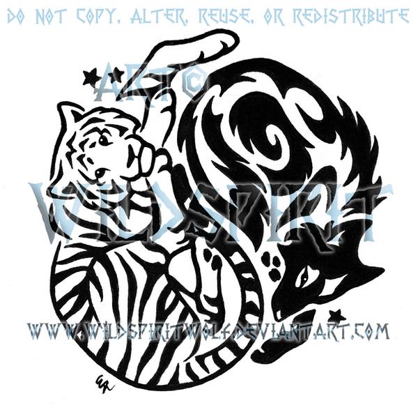 Tribal Tiger By Ruttan On Deviantart: Yin Yang Tiger And Wolf Tribal Design By WildSpiritWolf On