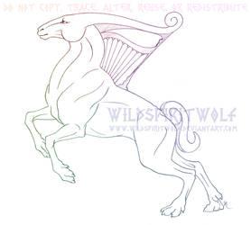 Xolotlan Sacred Creature - Sketch by WildSpiritWolf