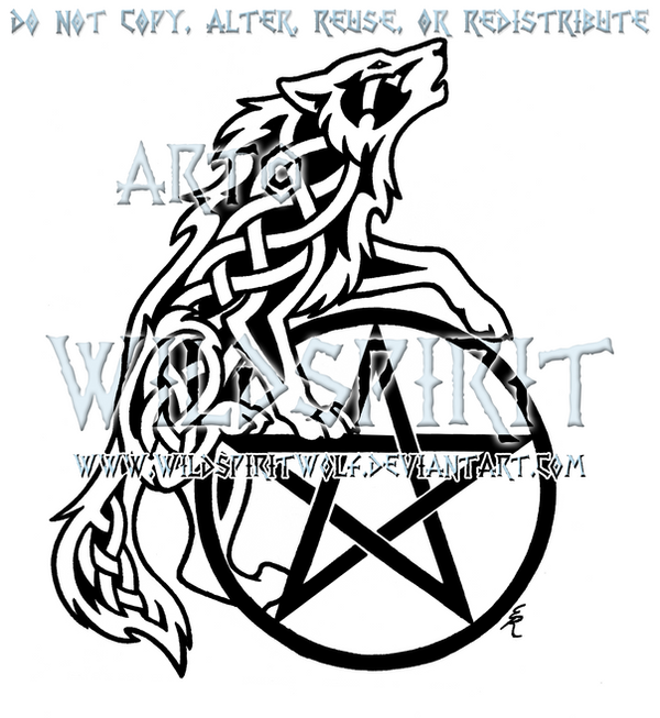 celtic howling wolf and pentacle design by wildspiritwolf on deviantart. Black Bedroom Furniture Sets. Home Design Ideas