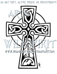 Celtic Cross And Feather Design