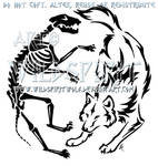 Wolven Life And Death Yin Yang Design