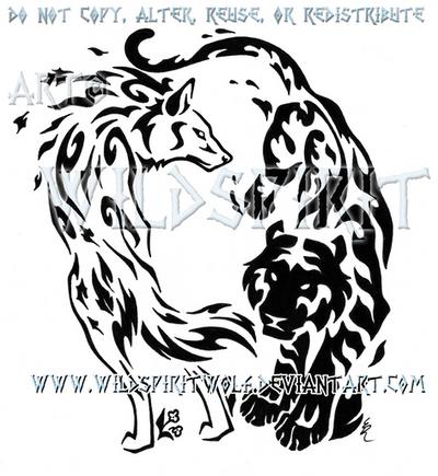 elemental wolf and tiger design by wildspiritwolf on deviantart. Black Bedroom Furniture Sets. Home Design Ideas
