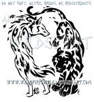 Elemental Wolf And Tiger Design