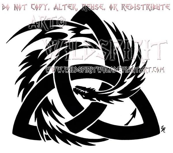 Tribal Celtic Trinity Knot Designs
