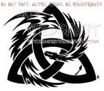 Tribal Dragon And Trinity Knot Design