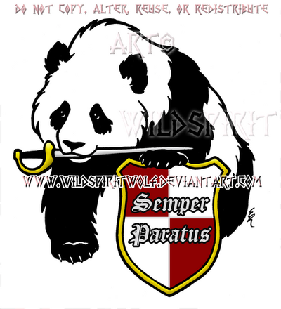 Panda And Shield Design by WildSpiritWolf