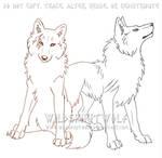 Heiro And Fallon Wolves Sketch