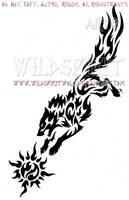 Ragnarok Skoll And Sun Tribal Set by WildSpiritWolf
