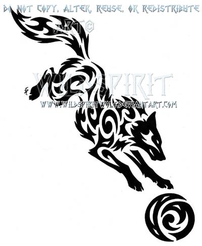 Ragnarok Hati And Moon Tribal Set by WildSpiritWolf