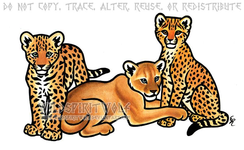 African Cubs - Copic Marker Design by WildSpiritWolf