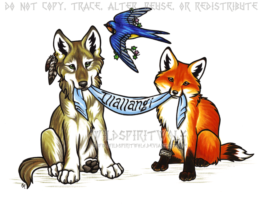Anime Fox And Wolf Love