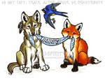 Illallangi - Wolf Fox Swallow Design