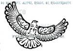 Musical Pacific Northwest Hawk Tattoo