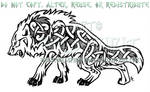 Fierce Nordic Dire Wolf Design