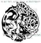 Tribal Wolf + Knotwork Fox Design