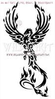 Majestic Tribal Phoenix Design