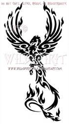 Majestic Tribal Phoenix Design by WildSpiritWolf