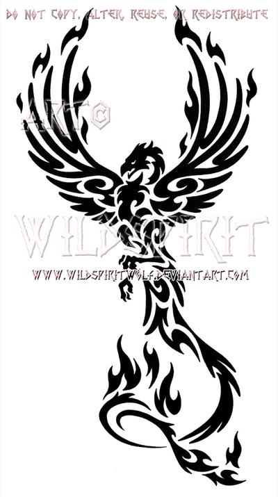 majestic tribal phoenix design by wildspiritwolf on deviantart. Black Bedroom Furniture Sets. Home Design Ideas