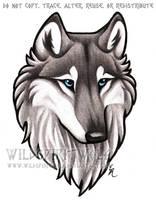 Blue Eyed Grey Wolf Bust Commission by WildSpiritWolf