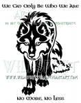 Gaelic Wolf And Sheepskin Design