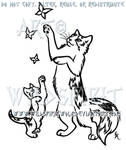 Playful Calico Cat And Kitten Design