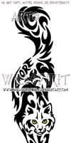 Amore Cat Tribal Design