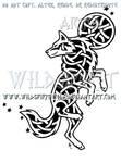 Celestial Knotwork Dancing Wolf
