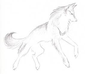New Wolf First Flight by WildSpiritWolf