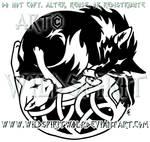 Tribal Fox Knotwork Cat Design