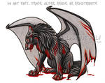 Winged Wounded Wolf Commission