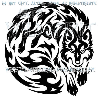 Wolven Spirit Warrior Tribal Design By Wildspiritwolf On Deviantart