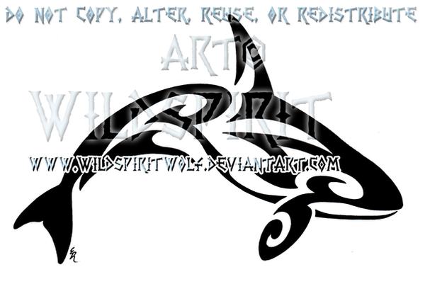 Tribal Killer Whale Tattoo by WildSpiritWolf