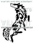 Dancing Wolf And Symbols Tribal Design