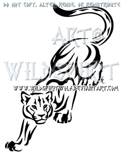 Prowling Panther Tribal Design