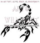 Aggressive Scorpion Tribal Design